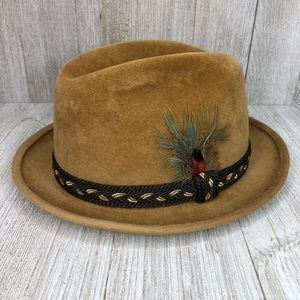 Stetson Fedora Sovereign Quality Wool Felt Feather